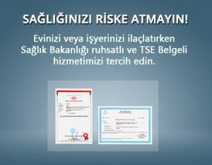 sağlığınızı riske atmayın sertifikasız çalışmayın
